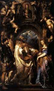 Estasi di San Gregorio, 1° versione Madonna della Vallicella, Museo di Grenoble, Francia