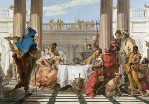 Gianbattista Tiepolo Il Banchetto di Cleopatra