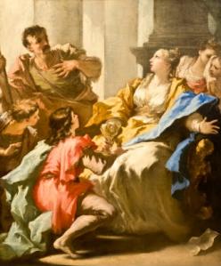 Giovanni Antonio Pellegrini Sofonisba riceve la coppa col veleno