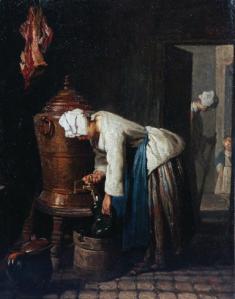 Jean-Baptiste-Simeon Chardin Donna prende l'acqua alla cisterna