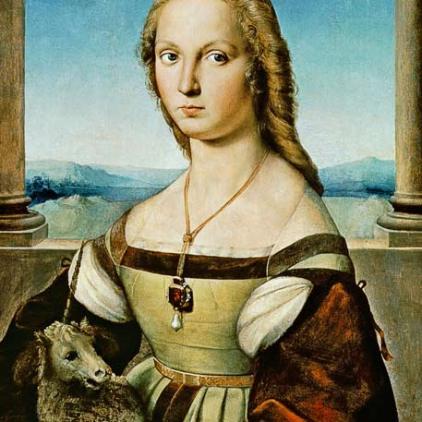 Madonna con liocorno