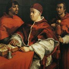 Ritratto di Leone X con i cardinali Giuliano de' Medici e Luigi de'Rossi